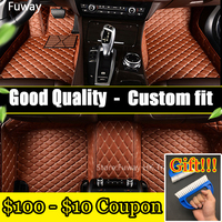 Custom Car floor mats Case for Toyota Camry Corolla RAV4 Mark X Crown Verso Cruiser car styling leather Anti slip carpet liners
