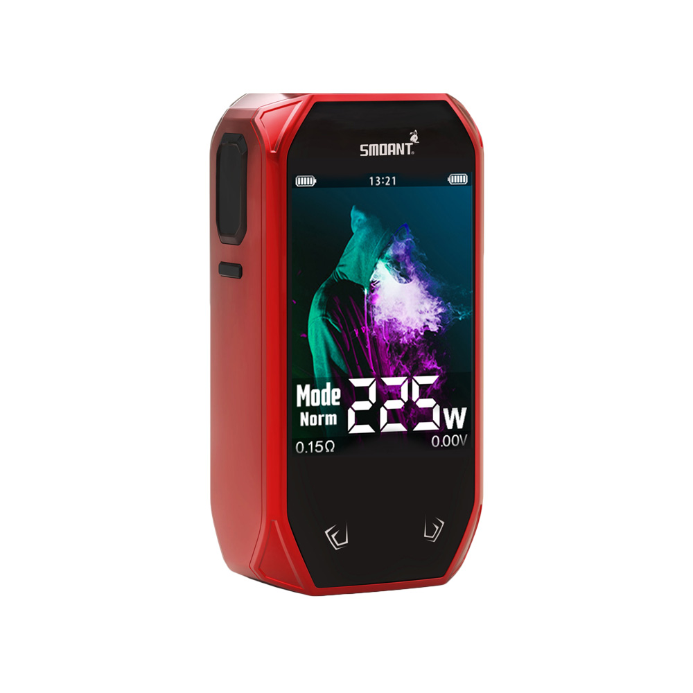 225W Smoant Naboo TC Box MOD with Colorful 2.4 Inch Screen & Updated Ant225 Chip & 225W Max Output VS Smoant Charon Mod Original