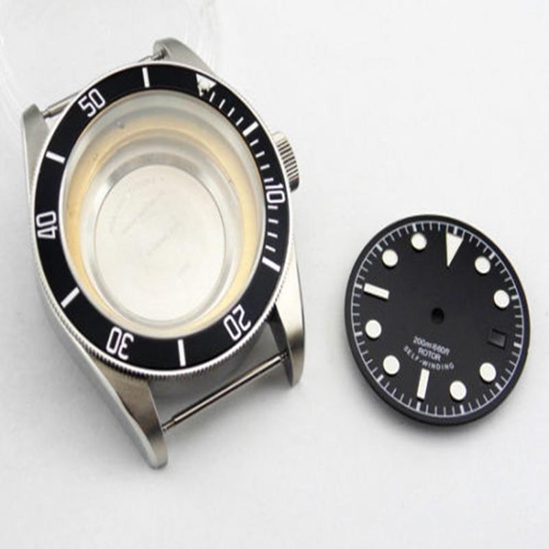 41mm Sapphire watch Case + dial fit Miyota 8205/8215,ETA 2836 DG2813 Movement цена