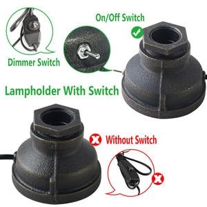 Image 3 - OYGROUP 로프트 E27 테이블 램프 에디슨 전구 거실 침실 베드 사이드 홈 장식 커피 숍 바 레트로 산업 책상 램프