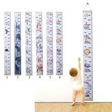 Детские диаграммы роста холст стены Висячие измерительные линейки для детей мальчиков девочек украшение комнаты детская комната, съемный диаграмма роста высоты
