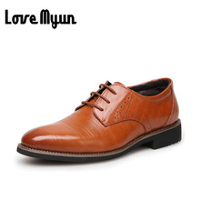 Мужская обувь из натуральной кожи мужские модельные туфли Бизнес свадебные туфли оксфорды на шнуровке с острым носком на плоской подошве Большие размеры 38-45 AA-12