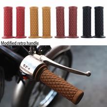 WINTUWAY Motorcycle Universal Vintage Rubber Motorbike Handlebar Thruster Handle Bar End Grips 1 Pair( 2pcs)