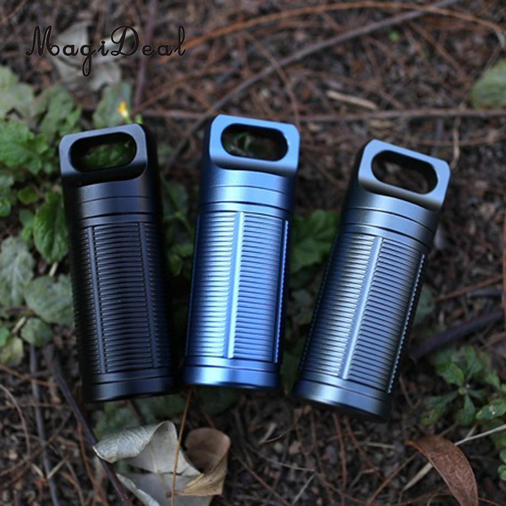 Gentle 3 Pieces Titanium Waterproof Mini Pill Case Box Capsule Tablet Match Bottle For Men Women Outdoor Camping Travel
