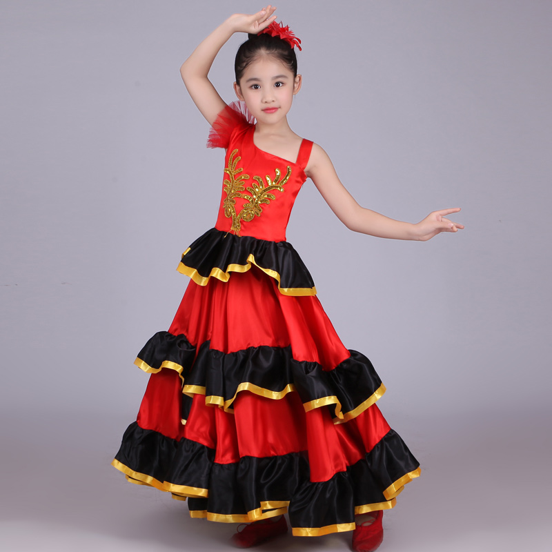 Kids Jupe Flamenco / Spanish Girl Costume/Vestidos Flamenco