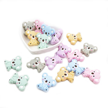 Chenkai 50PCS Silicone Koala Teether Beads Chewable Dummy Animal Teething BPA Free For Baby Nursing Accessories