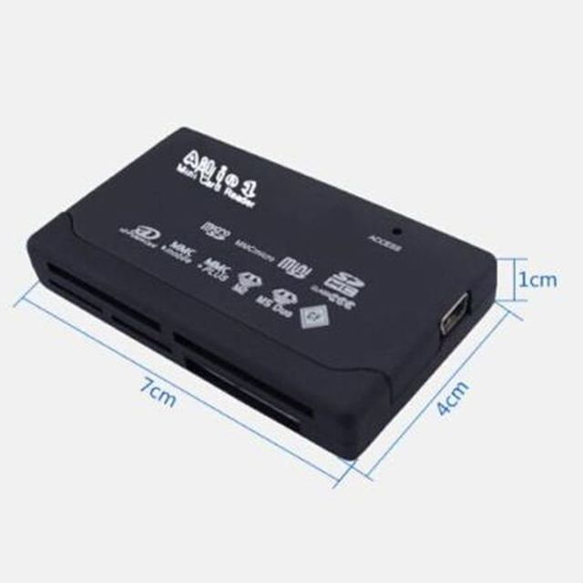 All In One Card Reader USB 2.0 SD Card Reader Adapter Support TF CF SD Mini SD SDHC MMC MS XD 3