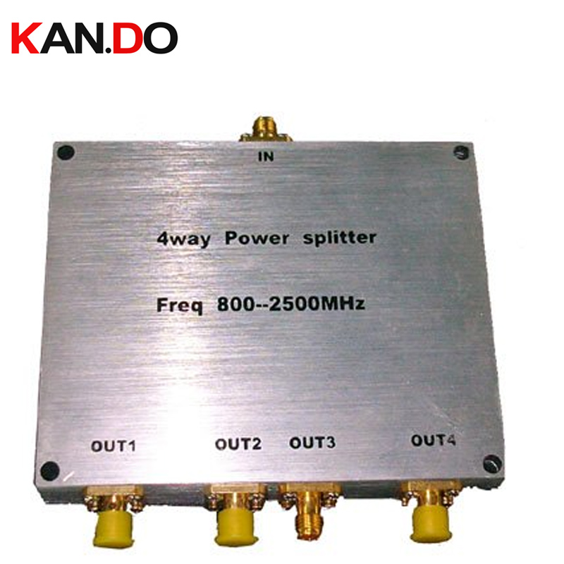 4 Way SMA Power Splitter(380~2500MHz),SMA connector signal divider radio frequency splitter for telecom use