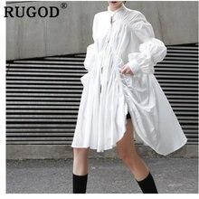 Женское платье в минималистическом стиле rugod однотонное свободное