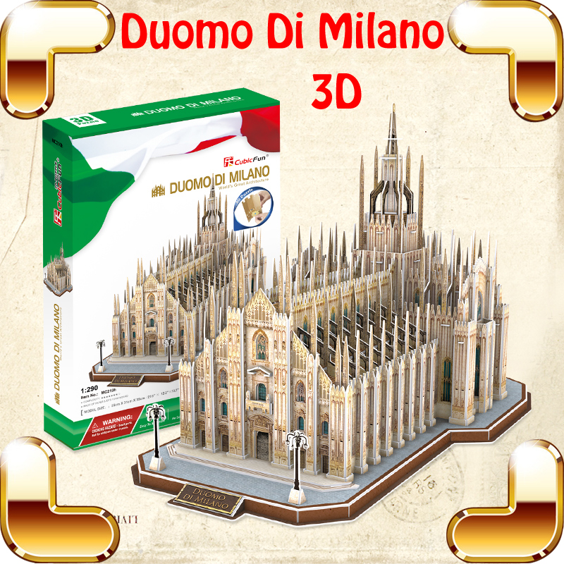 New Arrival Gift Duomo DI Milano 3D Puzzle Model Building Church Construction DIY High Level Assemble Toys For Adult IQ Training