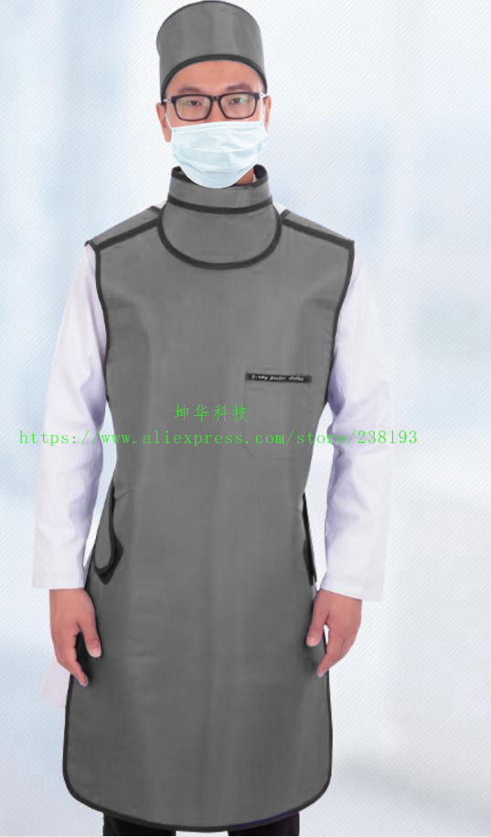 0.35mmpb X-ray Protective Apron With Collar,glasses,hat, Hospital, Clinic, Business Check Machine Protection,Medical Clothing