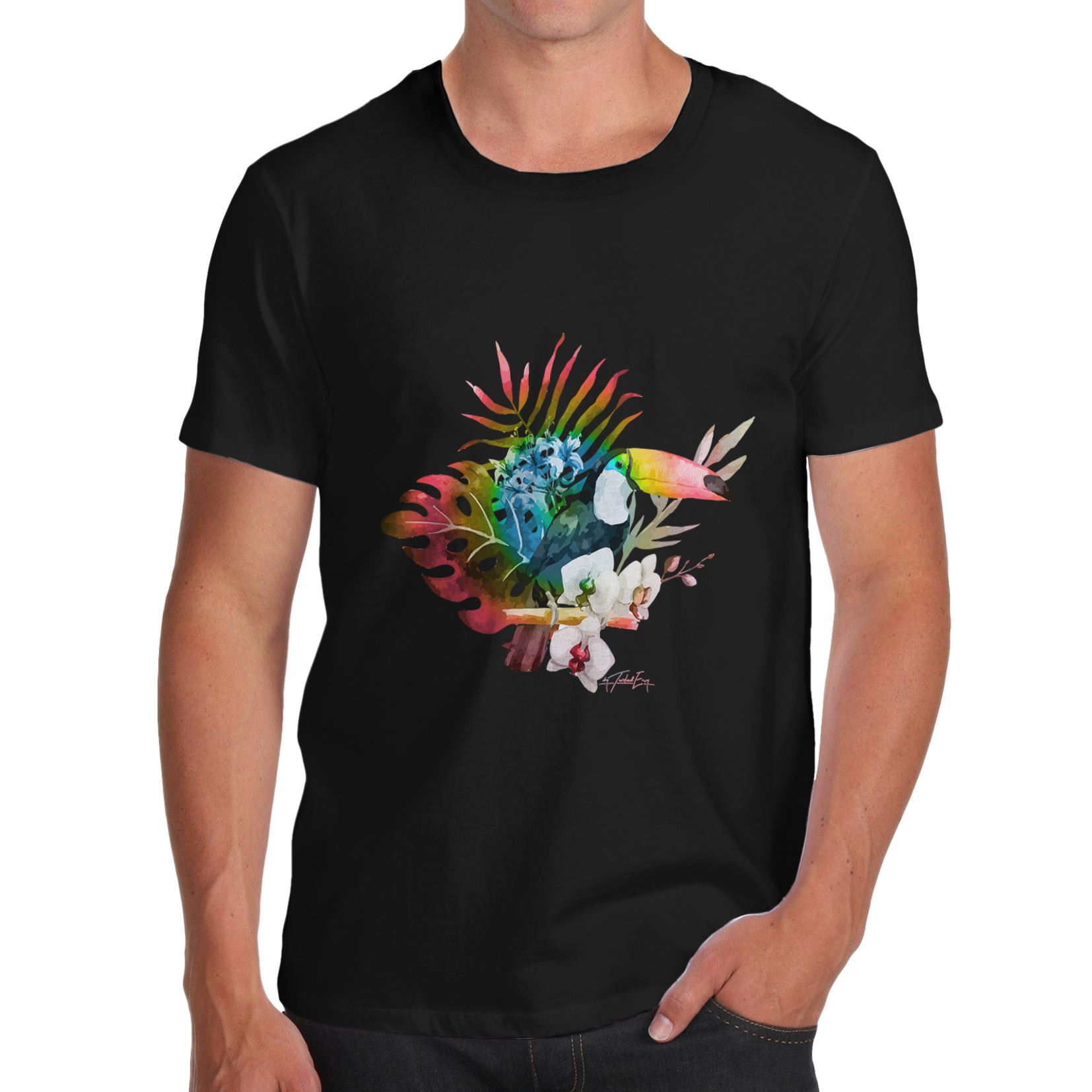 Design your own eco-friendly t-shirt - Design Your Own Shirt Crew Neck Design Toucan In The Wild Organic Cotton Short Sleeve T Shirts For Men