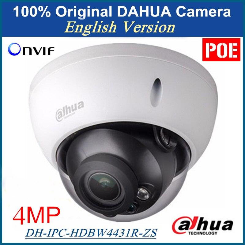 Dahua Inglês Firmware IPC-HDBW4431R-ZS 4MP Câmera IP Suporte POE Lente Varifocal Motorizada Substituição para IPC-HDBW4300R-Z