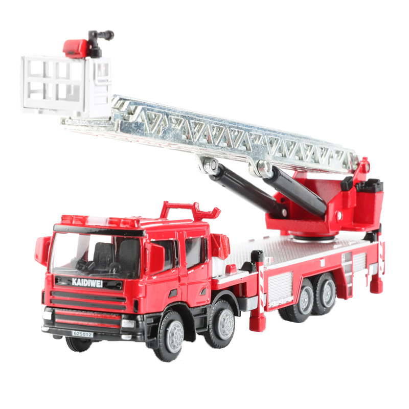 1:50 Ladder Fire Engine Alloy Car Model Fire Rescue Vehicle Toy Dinky Toys For Children Collection Boy fire granny 2018 11 20t20 00