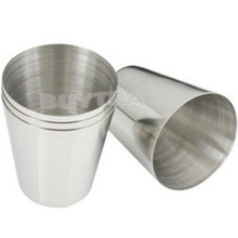 1 PCS 35ml 1oz Wine Beer MUG Drinking Cup Stainless Steel Glass Vidro Vidrio 3.7cm X 2.5cm X 4.3cm ZT(China)