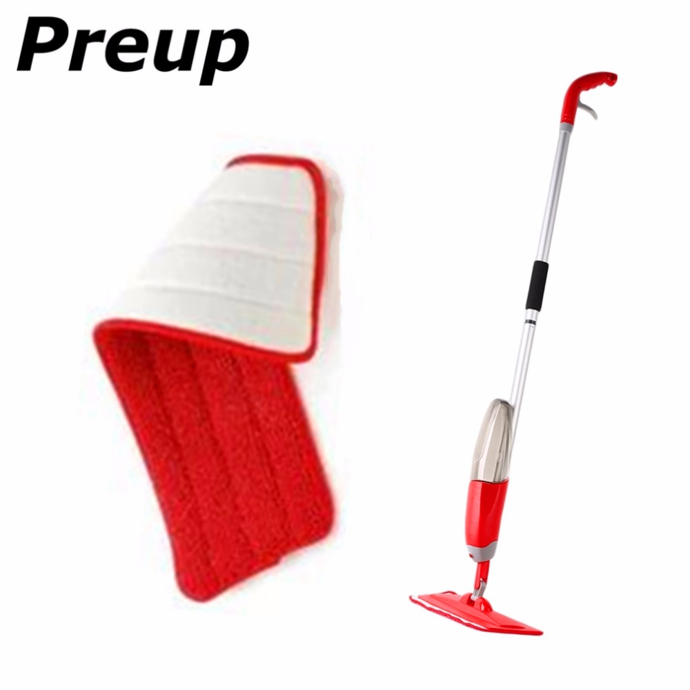 PREUP 3 Colors Replacement Microfiber mop Washable Mop head Mop Pads Fit Flat Spray Mops Household Cleaning Tools