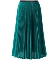 FREE SHIPPING Miyake summer women's European and American new casual Embossing pleated skirt IN STOCK