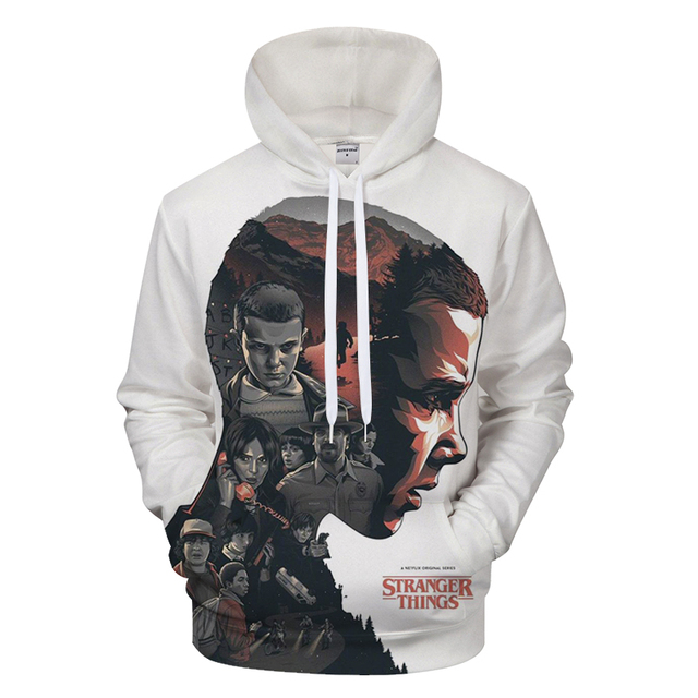 2018 New Men's Hoodies Stranger Things Printed Pullover Thin Hoodies & Sweatshirts For Spring Antumn Men Coat Casual Clothes 4