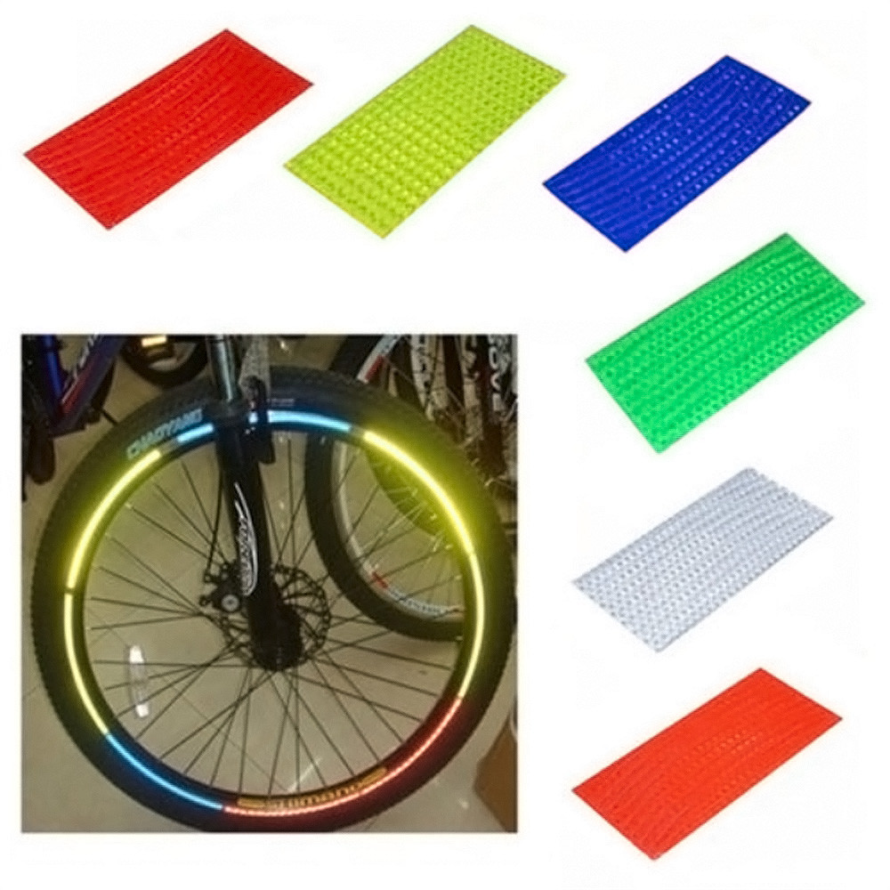 1 PZ 21 cm x 8 cm luorescent MTB Bike Sticker Fluorescent MTB Bike Bicycle Sticker Cycling Wheel Rim Reflective Stickers Decal