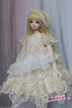 Princess BJD doll clothes set for 1/3 1/4 scale BJD / SD doll clothes,BJD doll wedding evening dress summer dress tube top dress