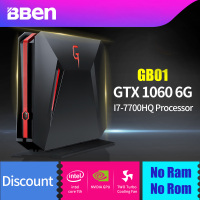 Bben GB01 настольных мини ПК Win10 Intel I7 7700HQ Процессор 6 ГБ DDR5 NVIDIA GEFORCE GTX1060 32 г DDR4 Оперативная Память HDD/SSD варианты RJ45 WI FI BT4.0