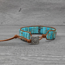 Vintage Leather Bracelets Natural Stone Woven Multilayer Bohemia Bracelet Handmade Jewelry Best Selling 2019 Products