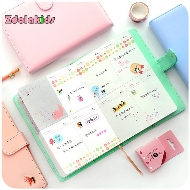 Nueva llegada planificador semanal dulce cuaderno creativo ...