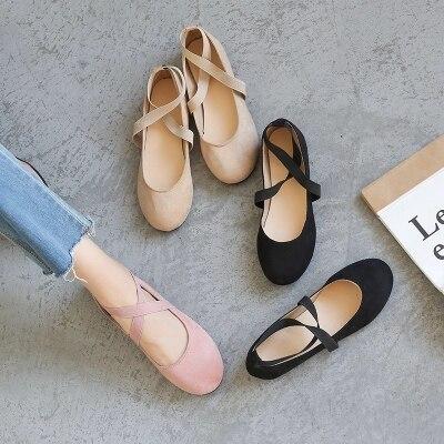 Tête Ballet Peu Rétro Ronde 3 Simples Profonde Bouche Sauvage Mou Chaussures 2 1 Littéraire Nouveau Fond TEESXxq8