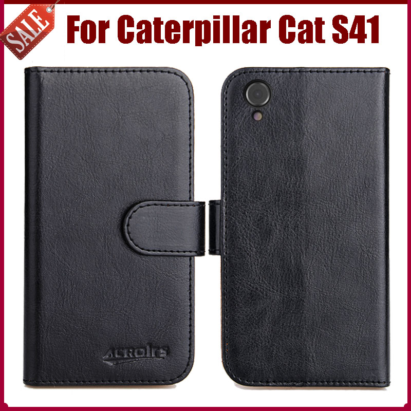 buy popular a8e3c f7d62 US $4.59 8% OFF|Hot Sale! Caterpillar Cat S41 Case New Arrival 6 Colors  High Quality Flip Leather Protective Cover Phone Bag-in Flip Cases from ...