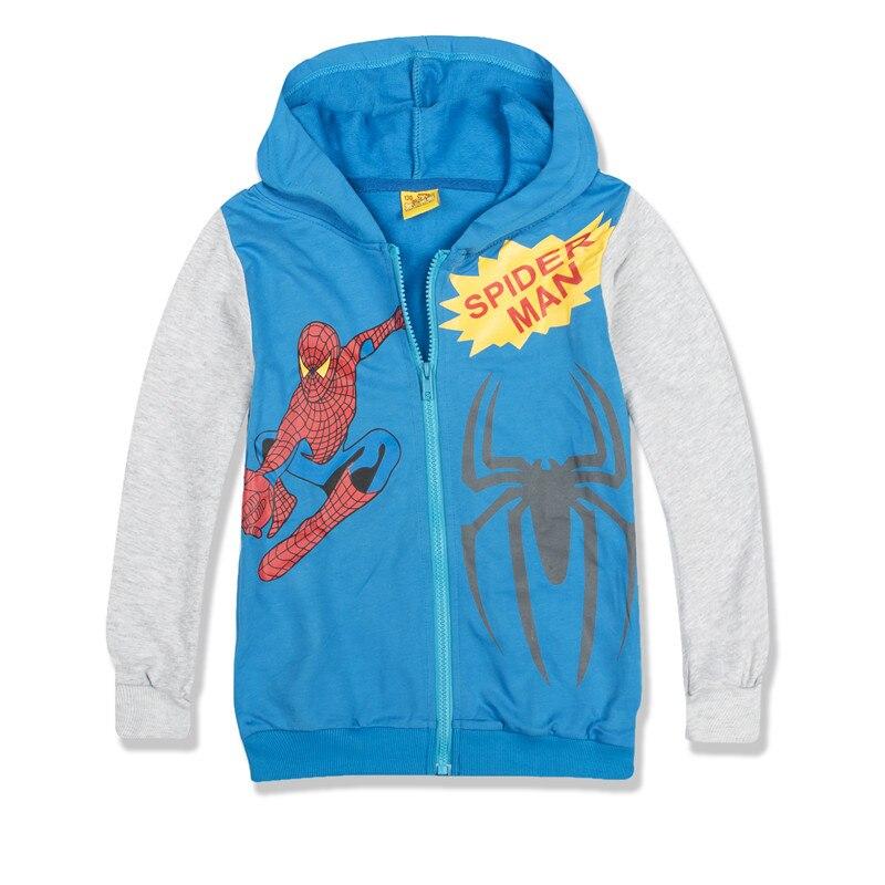6e0acba12fcb Promotion Spider Man Children Boys Jackets Coats Cotton Boys ...