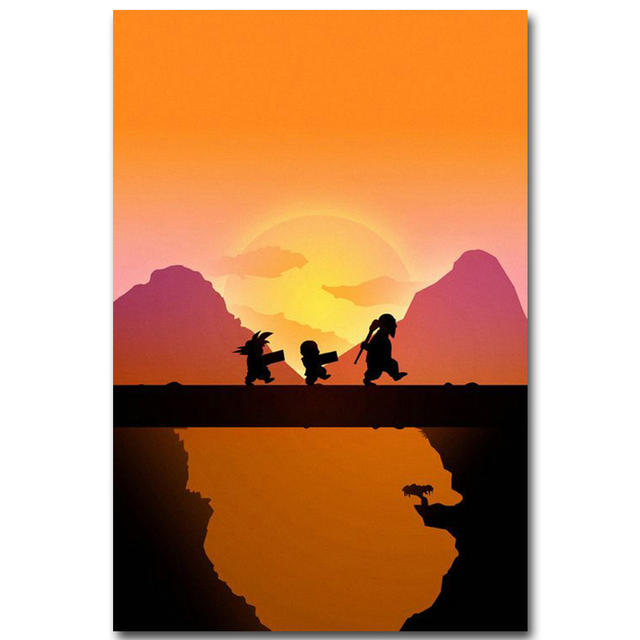 "Dragon Ball Z ""Kid Goku & Friend"" Wall Poster"