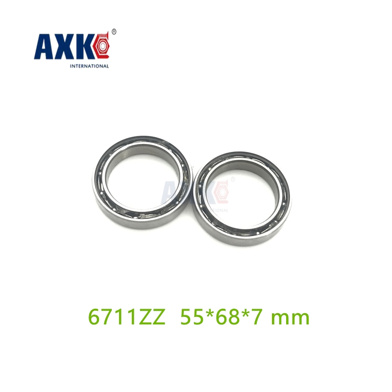 Axk Thin Wall Deep Groove Open Ball Bearings 61711 6711zz Open 55*68*7 Mm Abec-3 6711-2rs gcr15 61930 2rs or 61930 zz 150x210x28mm high precision thin deep groove ball bearings abec 1 p0