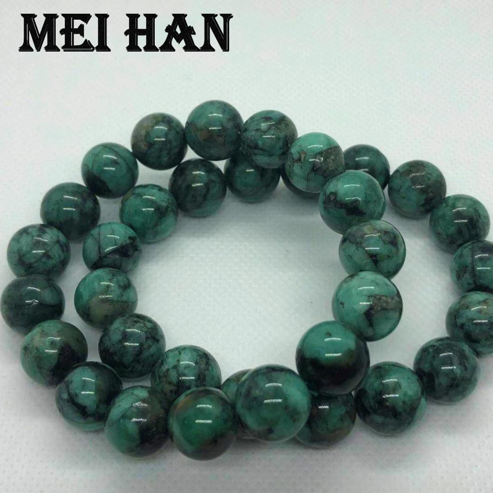 Wholesale 12 12 5mm approx17beads set 44g natural African Emeraldd gem stone smooth round beads for