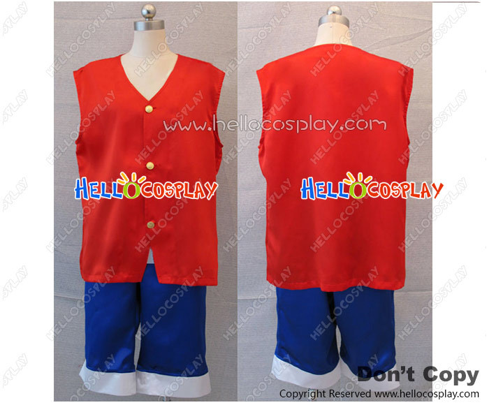 One Piece Monkey D Luffy Cosplay Costume New H008