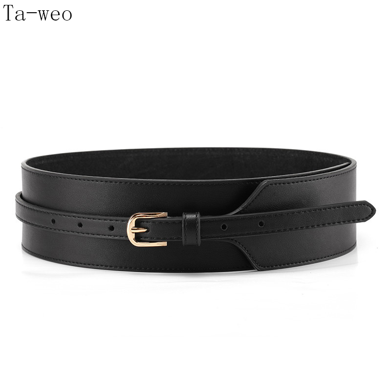 Ta-weo Women Dress Belts, Ladies Fashion Cummerbunds, Split Leather Belt For Women Good Quality, Fit Waistsize 70-85 Cm