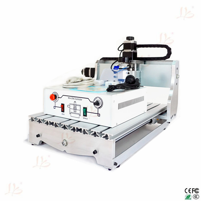 Mini cnc lathe Machine 4030T-D300 wood cnc router For PCB & Wood & Soft Metal Working no tax to russia cnc carving machine 4030 z d300 cnc lathe mini cnc router for woodworking