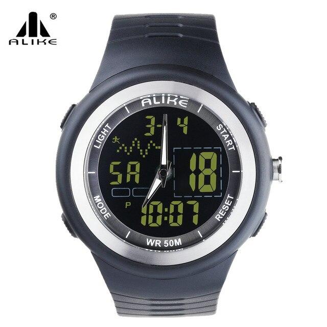 c50f010bbeb2 Reloj deportivo Unisex para hombre con luz Led multifunción reloj de pulsera  Digital impermeable