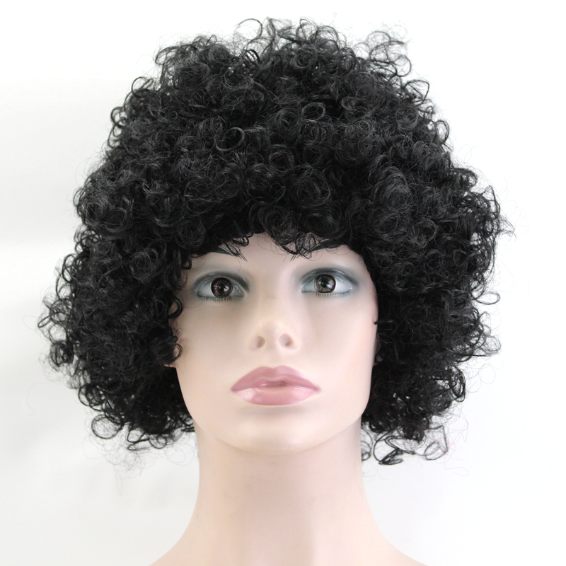 JOY&BEAUTY Halloween Wig Adult Children Cosplay Harajuku Party Wig Black Red Green Brown Synthetic Hair For Ball Fans Wigs