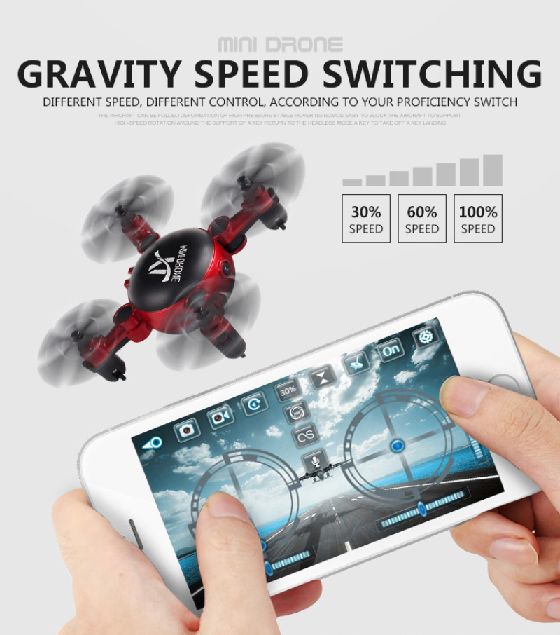 Mini Folding drone S18 2.4GHz Altitude Hold RC Quadcopter WIFI real time remote foldable pocket Drone with camera for Boy Gift