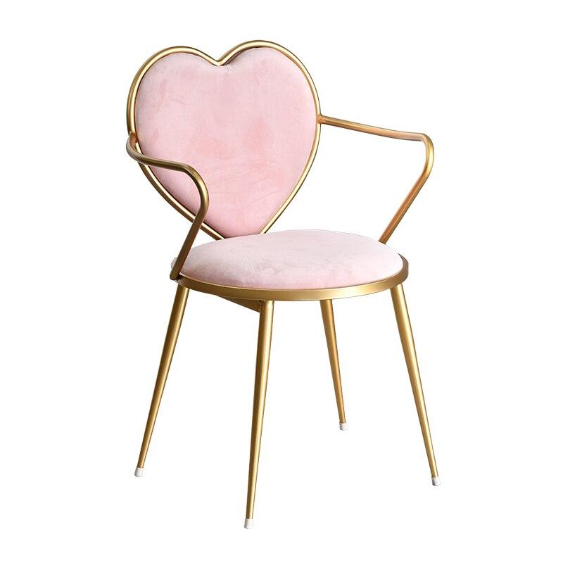 Nordic Chair Restaurant Cafe Tea Shop Leisure Chair Modern Simple Heart Shaped Makeup ChairNordic Chair Restaurant Cafe Tea Shop Leisure Chair Modern Simple Heart Shaped Makeup Chair