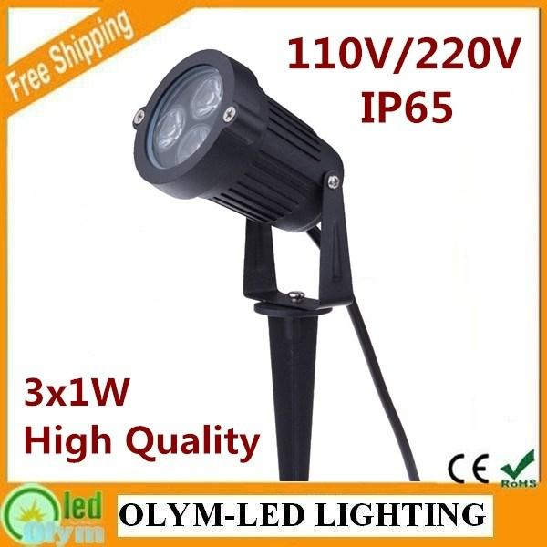 85 265V 3W LED Garden Light Spike Outdoor Lawn Lamp Light 220V IP67 Waterproof 110LM/W Free Shipping