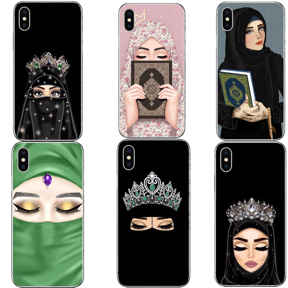 Muslim Islamic Gril Eyes Unique Luxury Hard PC Phone Case Cover For IPhone X 10 5 5S SE 6 6S