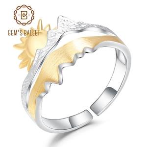 Image 1 - GEMS בלט זהב ציפוי 925 כסף טבעת נישואים טבעת בעבודת יד מתכוונן להרחיב טבעת תכשיטי אירוסין לגברים