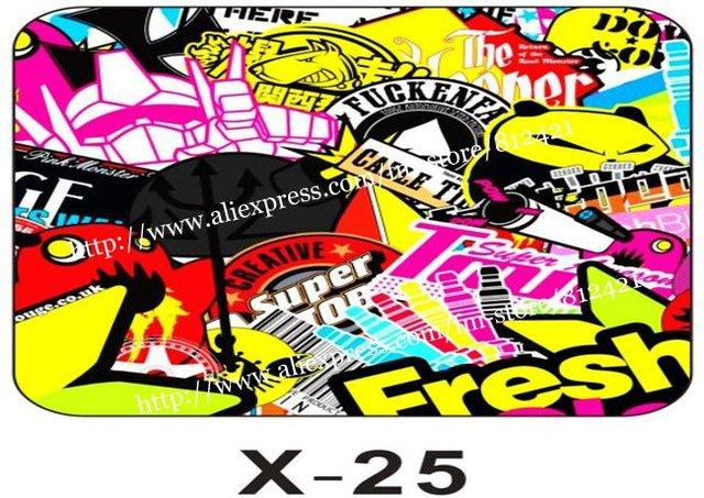 Glossy sticker bomb vinyl sheet famous manga design new vinyl sticker design for car size