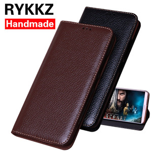 RYKKZ luksusowa skórzana klapka do Blackberry Key2 etui z podstawką do Blackberry Key 2 BBF100-1 skórzane etui na telefon do KEYone