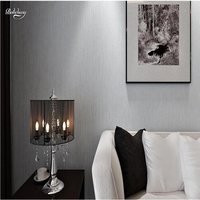 Beibehang Solid Color Non Woven Fabric Wallpaper Plain Living Room Bedroom Modern Simple Monochrome TV Background
