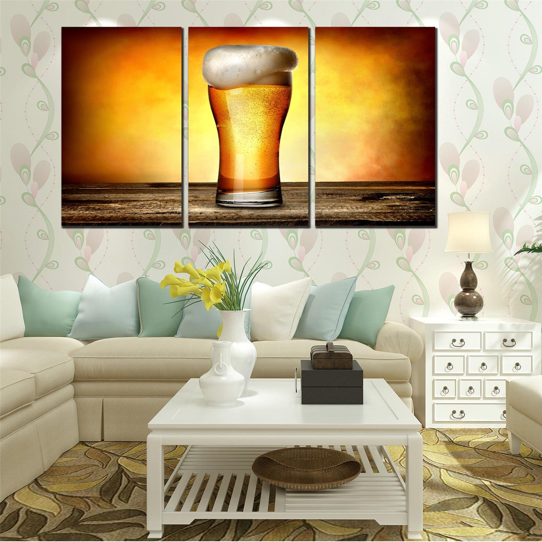 Lienzo cuadros de pintura al óleo grande fresco flash cerveza ...