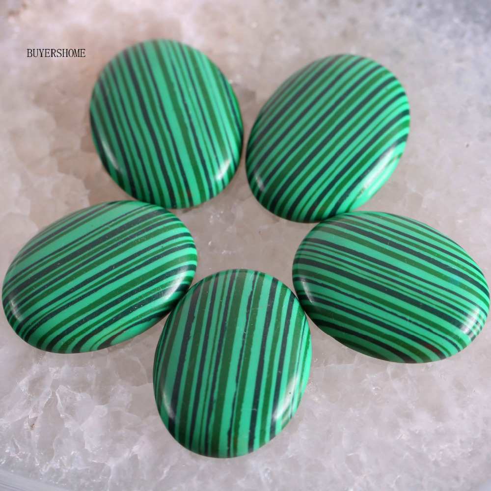 Free Shipping New without tags Stone 30x40MM Natural Green Malachite Bead CAB Cabochon 1Pcs RK1713