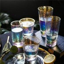 Радужное Хрустальное стекло, цветной молоток, отделка, хайбол, пивное стекло, ионное покрытие, бокал для вина, Коктейльная кружка, кофейная чашка, термостойкая