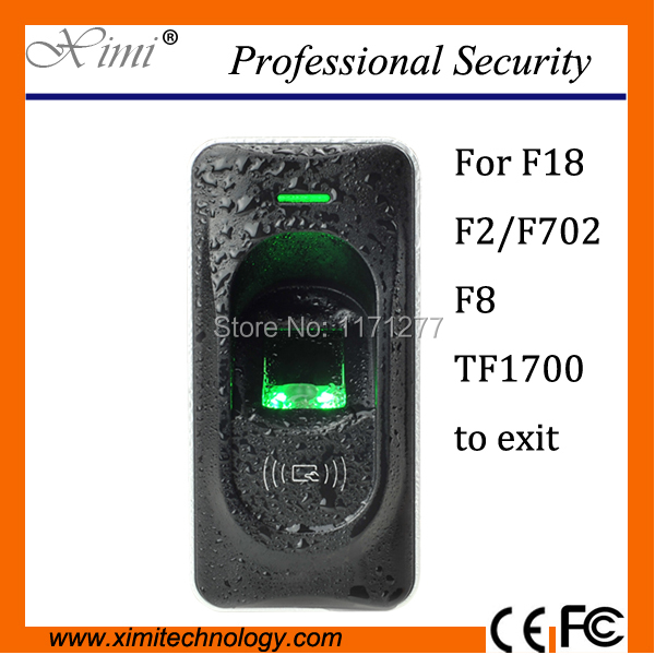 ZK IP65 Waterproof Fingerprint reader with access control system RS485 fingerprint sensor work for F18 F2&F8 access controller f3 finger pin free shipping fingerprint access control reader with keypad waterproof structure design ip65 waterproof